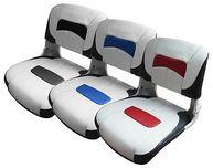 Фото сиденье premium low-back all weather, белое с темно-серым