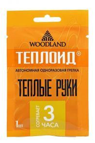Фото Грелка для рук одноразовая woodland Теплоид на 3 часа