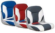 Фото сиденье типа «sport low back», белое с синим