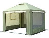 Фото шатер митек пикник-люкс 3х3 м со стенками (2 места)
