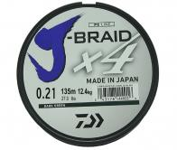 Фото Леска плетеная daiwa j-braid x4 135м 0,21мм зеленая