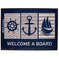 Фото коврик на нескользящей основе «welcome a board», 70x50 см