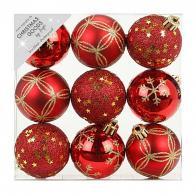 Фото Набор ёлочных шаров inge's christmas decor 81074g003 d 6 см, красный (9 шт)