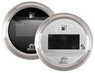 Фото Указатель уровня топлива цифровой, 0-190 Ом, черный циферблат