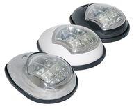 Фото светодиодные бортовые огни, пара, хромированный пластик