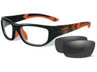 Фото очки victory  (прозрачные линзы, матовая  черно-красная оправа  dragon/sonic orange)