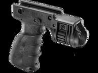 Фото рукоятка тактическая с креплением для фонаря диаметром 1 дюйм fab defense t-grip