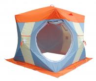 Фото Палатка рыбака Нельма Куб-2 Люкс (двухслойная)