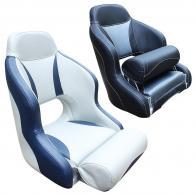 Фото кресло с болстером skipper carbone, светло-серый с темно-синим
