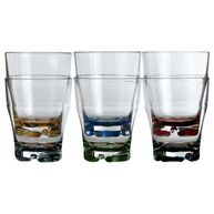 Фото прозрачные стаканы «party», цветное дно, 8,8х10,9 см, 6 шт