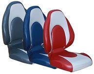 Фото сиденье «racing», серое с синим