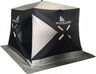 Фото зимняя палатка куб woodland ultra comfort, трехслойная