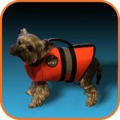 Фото спасательный жилет для маленьких собак друг человека xs оранжевый