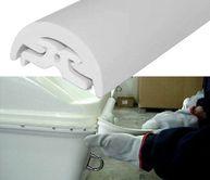 Фото Торцевая накладка для привального бруса 40 мм, белая