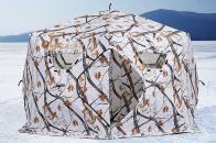 Фото Зимняя палатка шестигранная higashi winter camo sota pro трехслойная