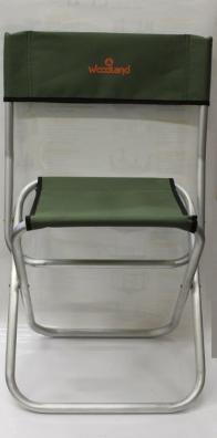 Фото стул woodland tourist alu max,  46 х 35 х 45 (80) см, складной, со спинкой (алюминий) asm-003