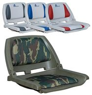 Фото сиденье с виниловыми подушками, серое с красным