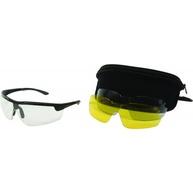 Фото очки стрелковые allen с тремя сменными линзами