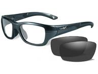 Фото очки flash  (прозрачные линзы, графитная оправа)
