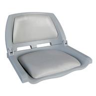Фото сиденье пластмассовое складное с подложкой molded fold-down boat seat, серое