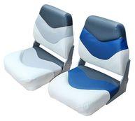"""Фото сиденье """"premium"""", белое с синим и темно-серым"""