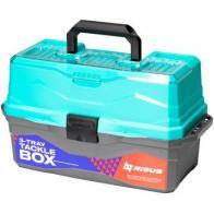 Фото Ящик для снастей nisus tackle box трехполочный бирюзовый n-tb-3-Т