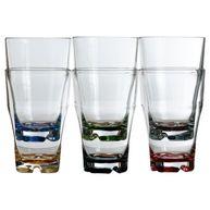 Фото прозрачные стаканы «party», цветное дно, 9х14 см, 6 шт