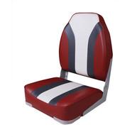Фото сиденье мягкое складное high back rainbow boat seat, красно-белое