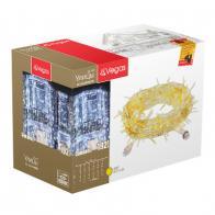 Фото Уличная светодиодная гирлянда (желтый свет) vegas Занавес 192 led, 6 нитей, 1х4 м, 24v 55028