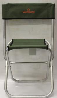 Фото стул алюмниевый со спинкой woodland tourist alu midi asm-002