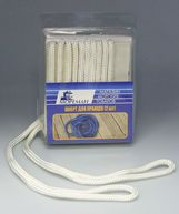 Фото плетеный шкерт для кранцев, 9,5 мм x 1,8 м, белый
