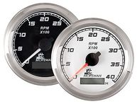 Фото тахометр со счетчиком моточасов, 6000 об/мин, белый циферблат