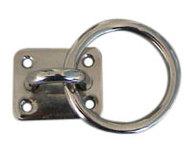 Фото серьга с рымом (размеры основания 40х50 мм, диаметр сечения рыма 8 мм )