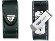 Фото Чехол из нат.кожи victorinox leather belt pouch черный с металлической клипсой
