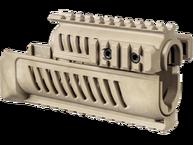 Фото цевье полимерное с системой четырех планок (quad-rail) для ак-47 fab defense ak-47 бежевая