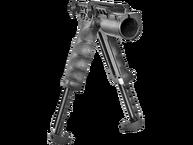 Фото передняя тактическая рукоятка-сошки g2 и держатель фонаря fab defense t-pod g2 fa черная