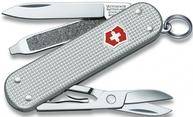 Фото нож перочинный victorinox classic alox 58 мм 5 функций серебристый подарочная коробка