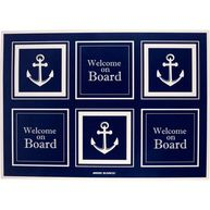 Фото коврик виниловый «welcome on board», 70x50 см