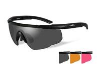 Фото очки saber adv smoke/rust/vermillion matte black с матовой черной оправой и дымчатыми/рыжими/оранжев