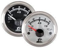 Фото указатель давления масла 0-10 bar, белый циферблат