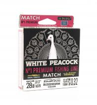 Фото леска balsax white peacock match box 150м 0,32 (13,0кг)