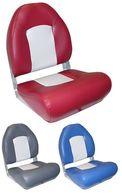 Фото сиденье с боковой поддержкой, серое с бордовым