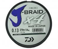 Фото Леска плетеная daiwa j-braid x4 270м 0,13мм зеленая