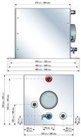 Фото Бойлер, 40 л, 1200 Вт, квадратный, с теплообменником.