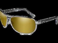 Фото Очки klein pol amber gold mirror gunmetal с оправой цвета оружейного воронения с поляризованными янт