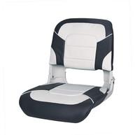 Фото Сиденье пластмассовое складное с подложкой all weather high back seat, бело-чёрное