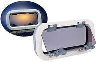 Фото иллюминатор «standard», размер h1, дымчатое стекло/белая рамка, овальный