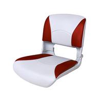 Фото сиденье пластмассовое складное с подложкой deluxe all weather seat, бело-красное