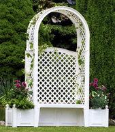 Фото скамья садовая амстердам белая 43801