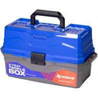 Фото ящик для снастей nisus tackle box трехполочный синий n-tb-3-b